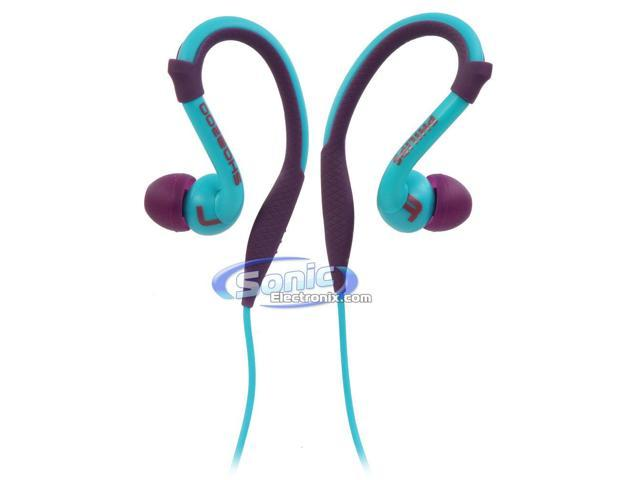 Philips ActionFit SHQ3200PP/28 Sports Earbuds Earhook Headphones (Purple/Blue)
