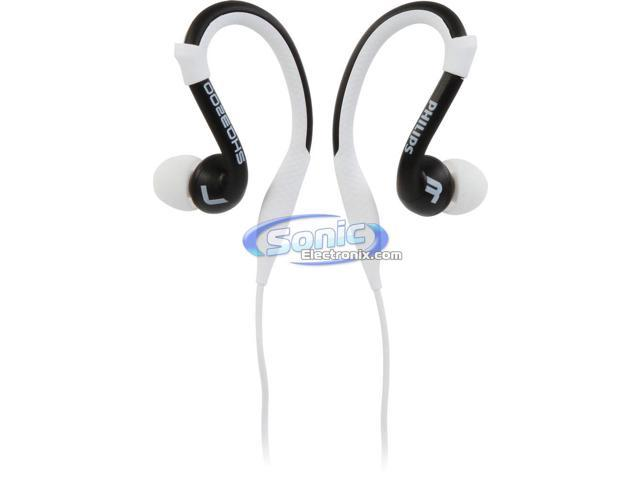 Philips ActionFit SHQ3200WT/28 Sports Earbuds Earhook Headphones (White/Black)