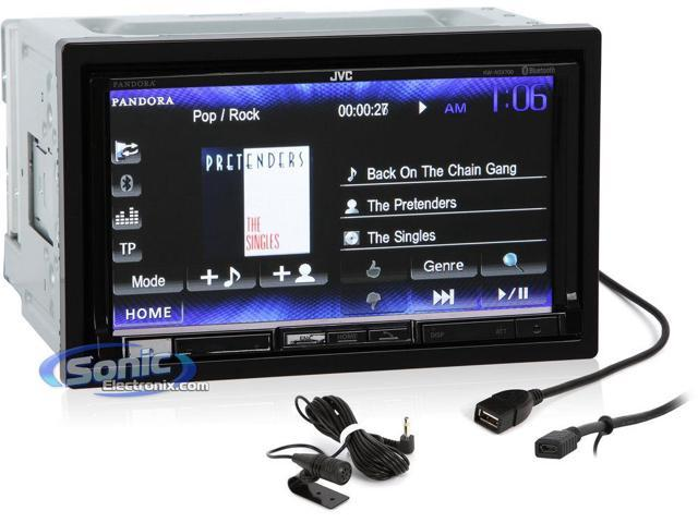 "JVC KW-NSX700 Bluetooth Enabled Double-DIN In-Dash DVD Multimedia Reciever with with 7"" WVGA Touchscreen Display and iPhone Controls, PANDORA Link"