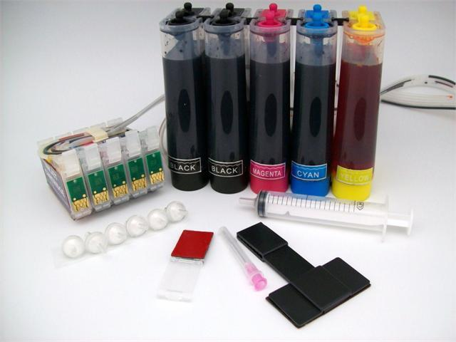 Continuous Ink Supply System for Epson C120 Workforce WF 30 310 1100 Cartridge Cartridges CISS CIS