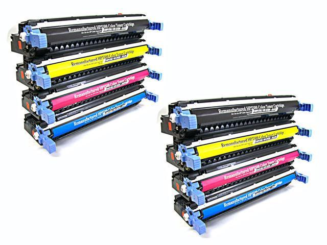 8PK [ C9730A - C9733A SET ] *2 SETS * 730A 731A 732A 733A Remanufactured Toner Cartridge SET for HP Hewlett-Packard Color Laserjet 5500 Series 5500dn 5500dtn 5550 5550dn 5550dtn 5550hdn 5550n