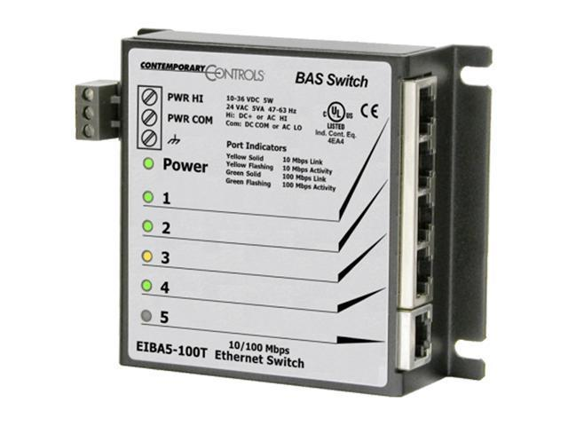 Commercial Ethernet Switch - 5 Port - Panel Mount