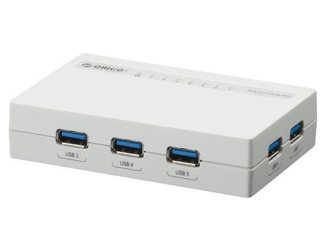 Orico H7988-U3-WH 7-Port USB 3.0 Hub - White