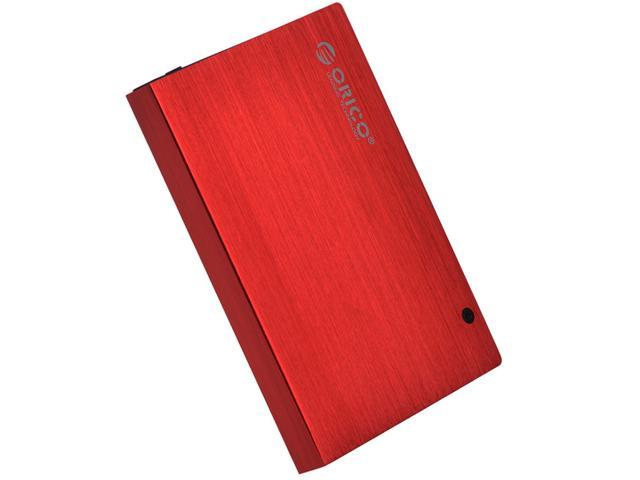 ORICO Tool Free Screw-Less] USB 2.0 2.5-inch SATA External Hard Drive Enclosure Adapter Case for HDD SSD SATA Drive - Red ...
