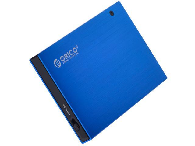 ORICO 2595US Ultra Slim 2.5-Inch SATA to USB 2.0 External Aluminum HDD/SDD Enclossure - Blue