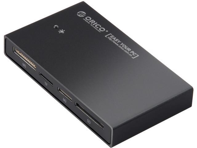 ORICO FUll Aluminum All - in - One USB 3.0 Flash Memory Card Reader / Writer / Adapter -Black (7566-C3)
