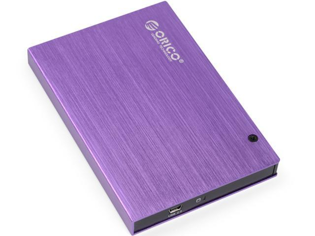 "ORICO 2595US Tool free 2.5""USB2.0 SATA External Aluminum HDD/SDD Enclosure - Purple"