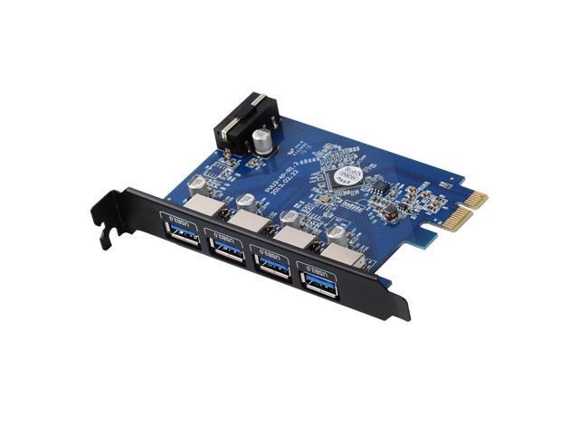 ORICO USB 3.0 PCI-Express Host Controller Card with 4 Port,PCI-Express to USB 3.0 HUB Controller Adapter Card , Black PCI Edition (4 Port Outside) (PVU3-4P)