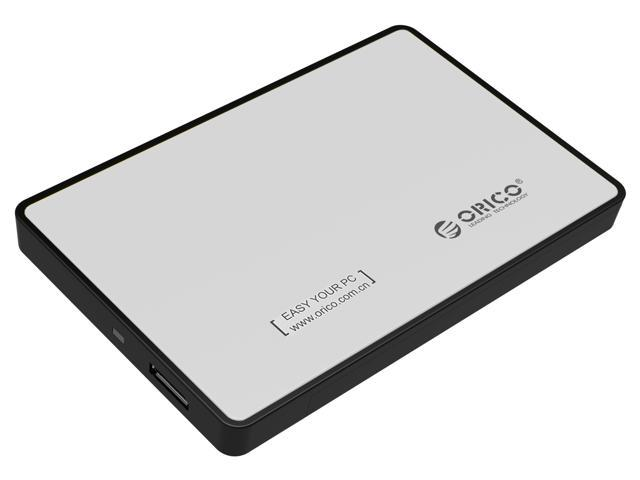 """ORICO2588US3 Tool Free 2.5-Inch SATA to USB 3.0 Hard Drive Disk HDD External Enclosure Case for 9.5mm 7mm 2.5"""" SATA HDD and SSD up to 2TB - Silver"""