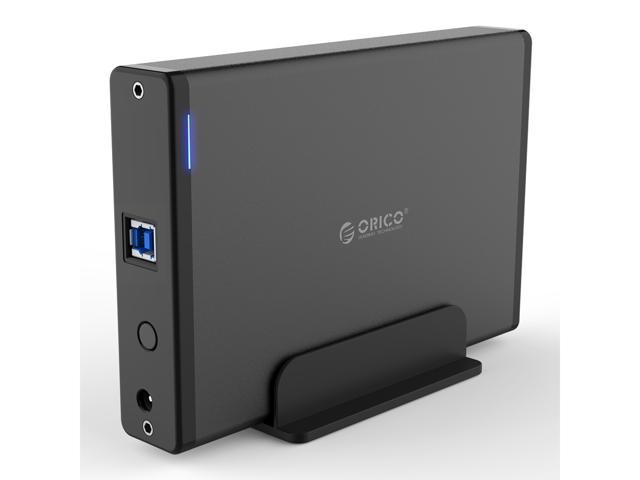 ORICO Aluminum 3.5 inch USB3.0 to SATA3.0  Hard Drive HDD Enclosure  Vertical Design 3.5 inch HDD Case Docking Station 5Gbps Support UASP 12V2A Power Adapter