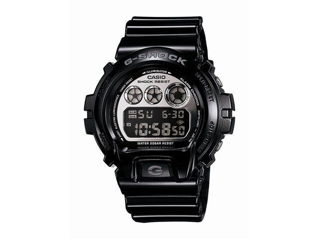 Casio G Shock Quartz Silver Dial Black Band - Men's Watch DW6900NB-1