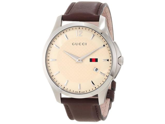 Gucci Timeless Ivory Diamond Pattern Dial Men's Watch - YA126303