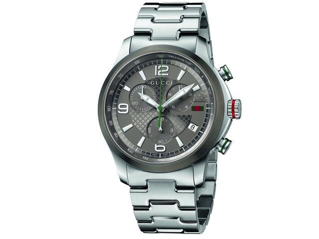 Gucci G-timeless Grey Dial Stainless Steel Mens Watch YA126238