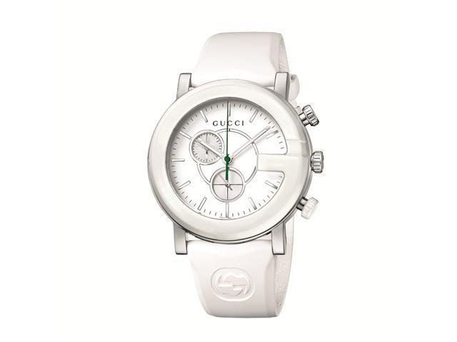 Gucci Chrono White Matte Painted Dial Women's Watch - YA101346