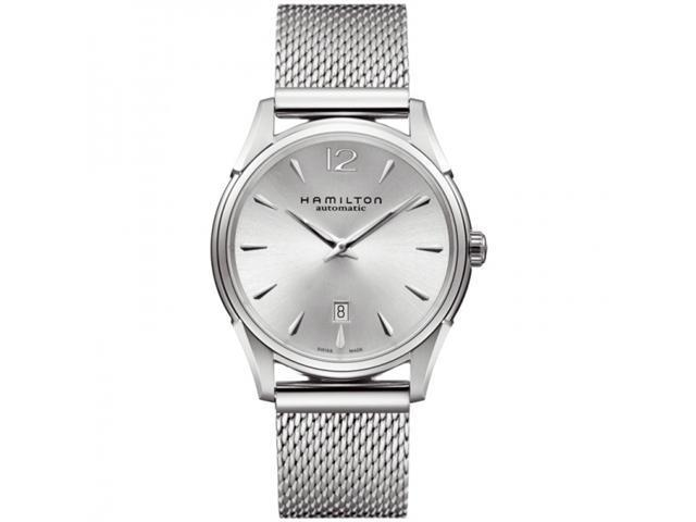 Hamilton Jazzmaster Slim Automatic Steel Mesh Silver Dial Men's Watch - H38615255