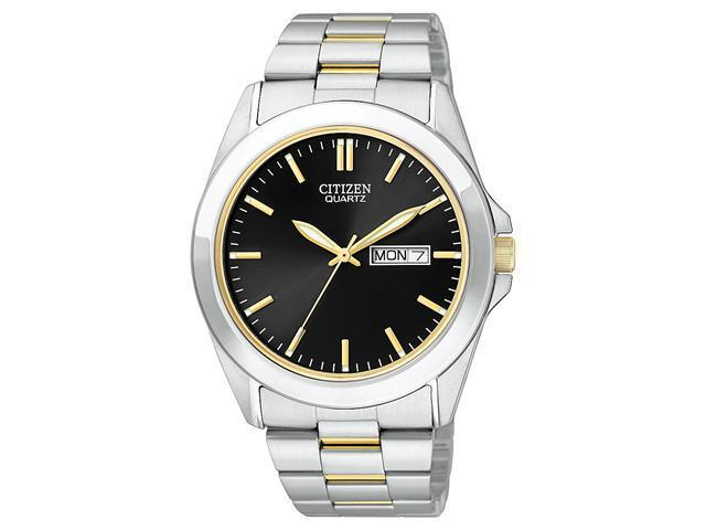 Citizen Quartz Day Date Black Dial Men's Watch - BF0584-56E