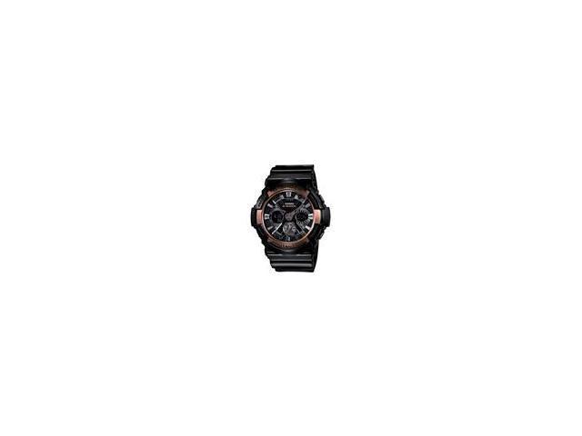 Casio G Shock Black / Rose Gold Dial Men's Watch - GA200RG-1A