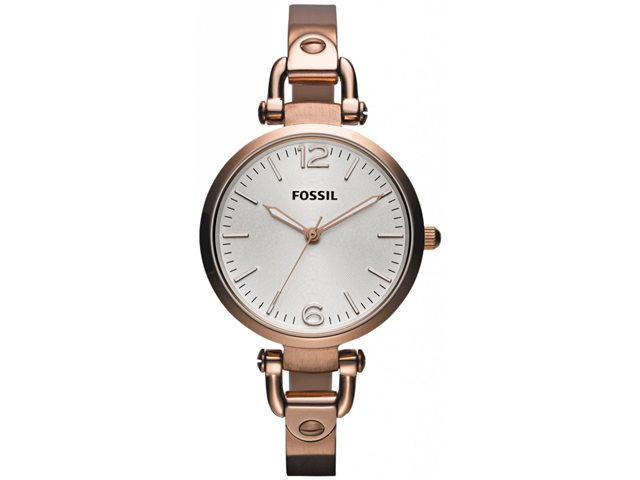 Fossil Georgia White Dial Rose Gold-tone Ladies Watch ES3110