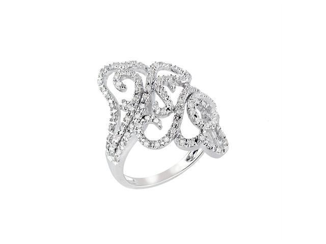 5/8 (ctw) Round Diamond Cocktail Ring in White Gold
