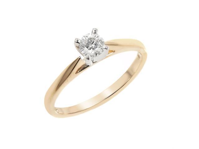 1/3 Carat Diamond Engagement Ring in 14K Yellow Gold