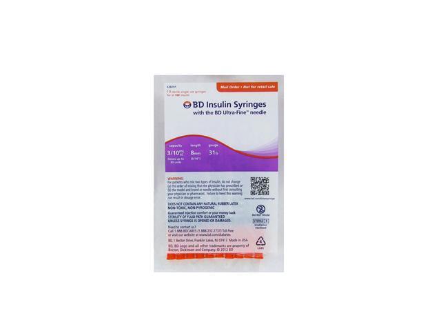 Insulin Syringes bd Ultra Fine Needle bd Ultra Fine Insulin Syringes