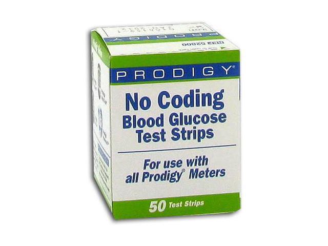 Prodigy No-Coding Blood Glucose Test Strips - 50 ea
