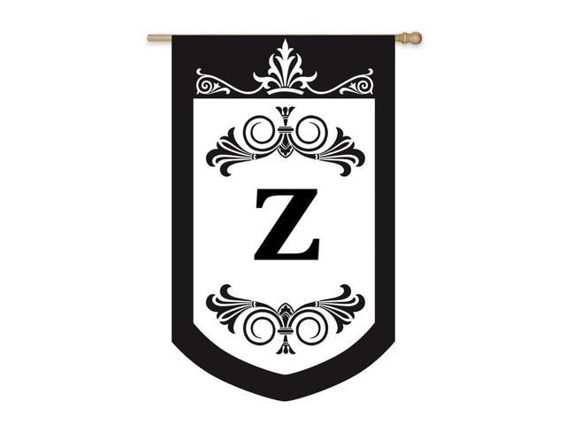 Royal d Monogram House Flag -  Z