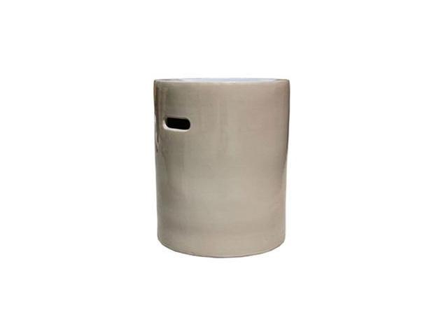 Taupe Drum Garden Stool
