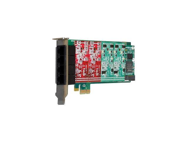 Digium 1A4B01F 4 Port Modular Analog PCI-Express X1 Card No Interfaces