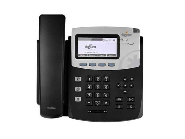 Digium 1TELD045LF D45 2-line SIP Phone with HD Voice Gigabit No Power Supply