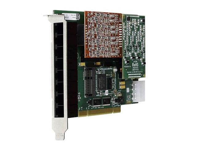 Digium 1A8A03F 8 Port Modular Analog PCI 3.3/5.0V Card with 8 Trunk Interfaces