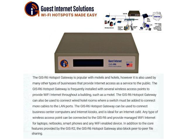 Guest Internet GIS-R6 Internet access gateway 200 concurrent user 3port switch