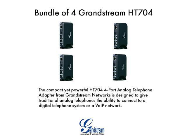 Grandstream HT704 Bundle of 4 HandyTone 704 VoIP IP ATA 4 FXS port 1 x 10/100