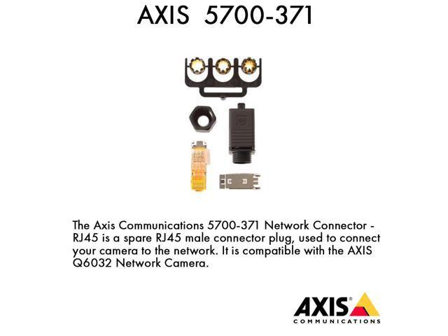 Axis 5700-371 Spare Conn Push Pull Plug IDC-8 IP67  for Q603X-E & P55XX-E