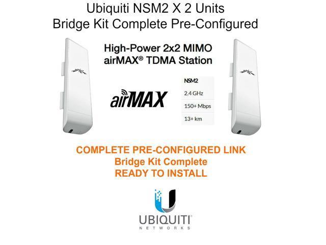 Ubiquiti NSM2 2-PACK Kit Complete Pre-Configured ...
