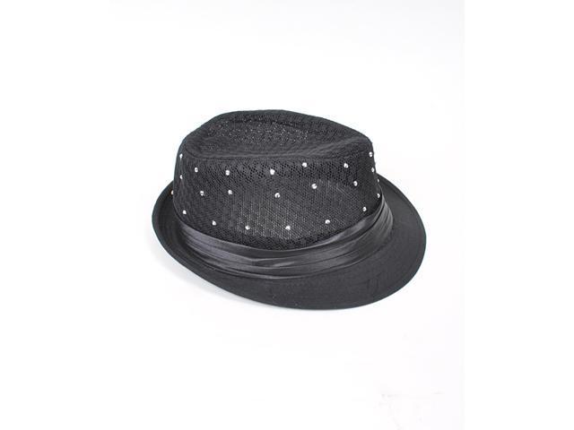 Black 100% Linen TheDappertie Fedora Hat L/XL - H0593