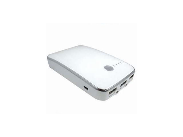 OKIT White Portable Universal Power Bank for Portable Electronic Devices - 10000mAh