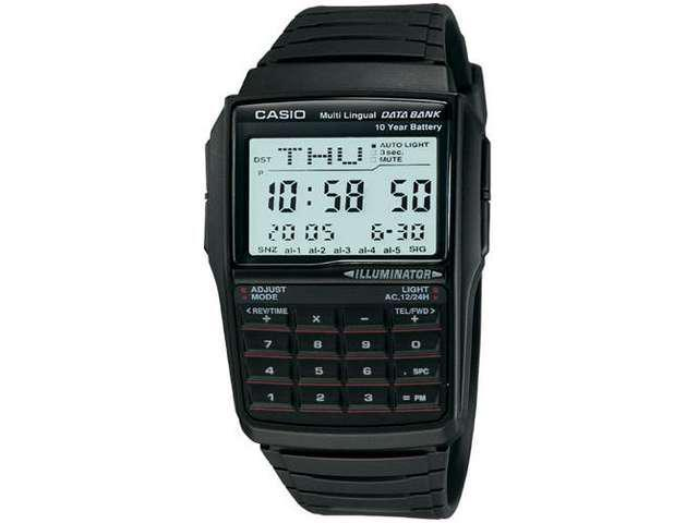 Casio DBC32-1A Men's Classic Digital Databank Multi-Lingual Calculator Watch
