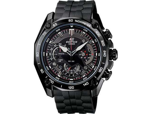Casio EF550PB-1AV Men's Edifice Chronograph Black Rubber Strap Watch