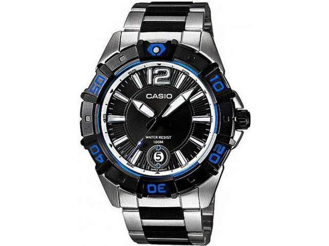 Casio Men's MTD1070D-1A1V Black Resin Quartz Watch with Black Dial