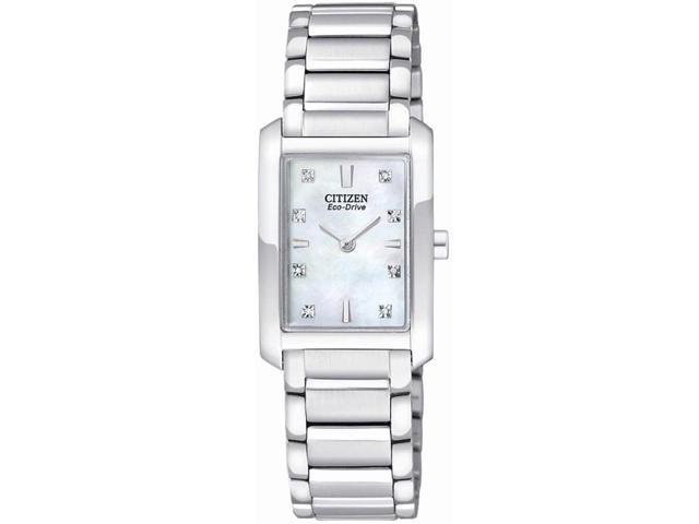 Citizen EX1070-50D Stainless Steel Palidoro Eco-Drive Mother Of Pearl Diamond Accented Dial