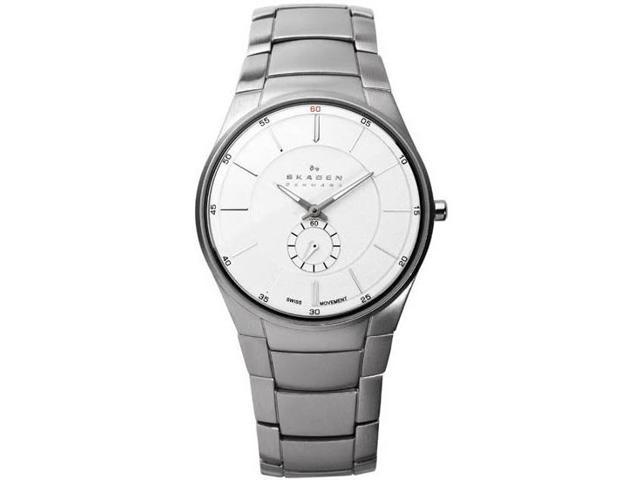 Skagen Black Label Silver Dial Stainless Steel Mens Watch 924XLSXS