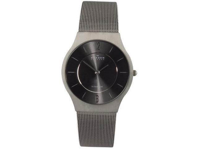 Skagen Charcoal Dial Titanium Slim Mens Watch 233LTTM