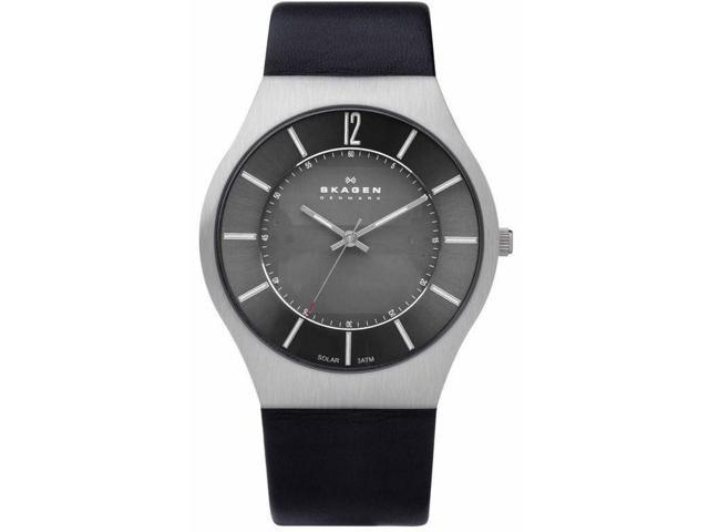 Skagen Solar Black Dial Mens Watch 833XLSLB