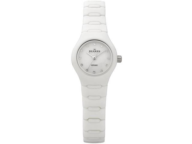 Skagen Crystal Collection Ceramic Bracelet White Dial Women's watch #816XSWXC1