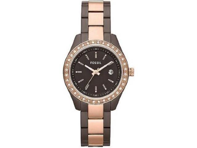 Fossil Stella Chocolate Two Tone Stainless Steel Ladies Watch ES3000