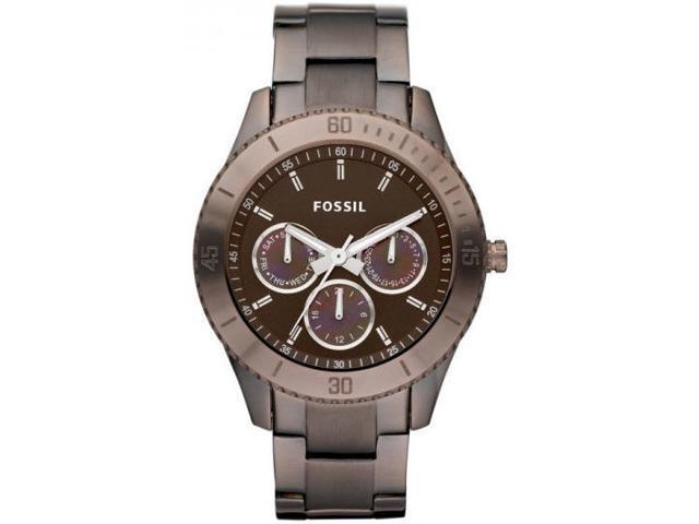 Fossil Women's Boyfriend ES3021 Brown Stainless-Steel Analog Quartz Watch with Brown Dial