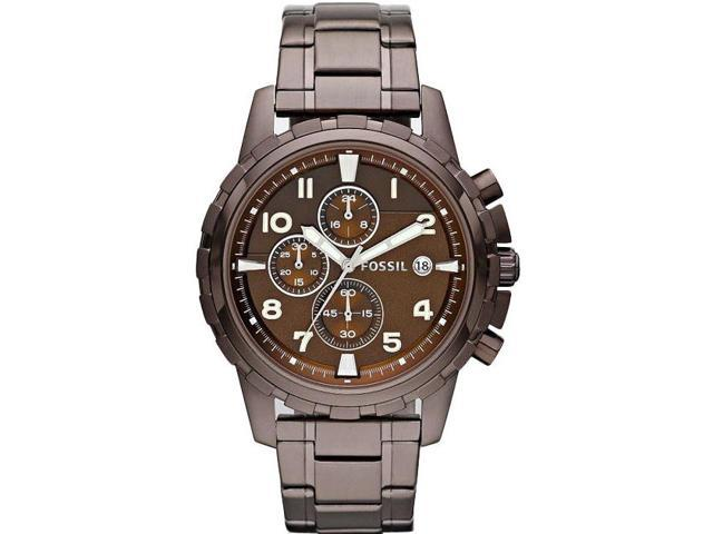 Fossil Dean Chronograph Brown Ion-plated Mens Watch FS4645
