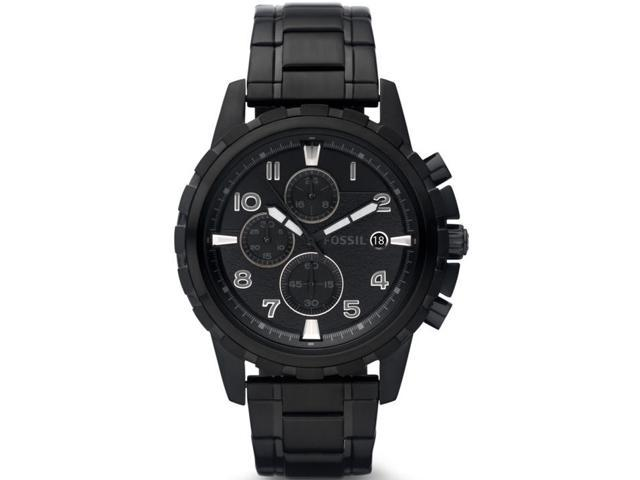 Fossil Dean Black Stainless   Steel Mens Watch FS4646