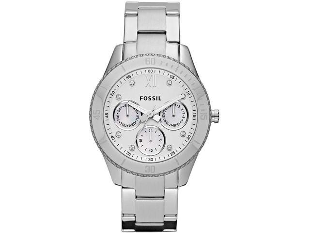 Fossil Stella Multifunction Silver Dial Stainless Steel Ladies Watch ES3098